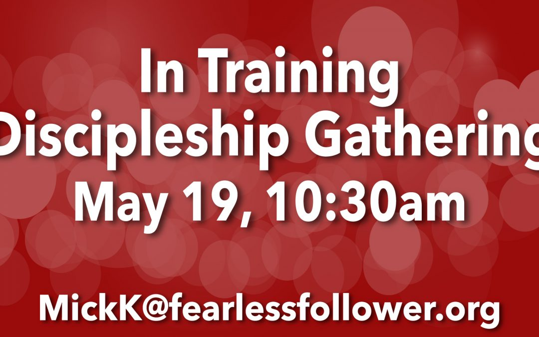 Join us on May 19 for our next In Training Gathering