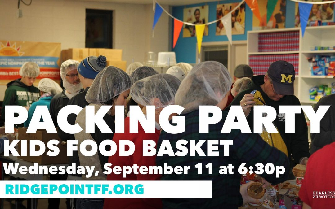 Student Serving Students: Kid's Food Basket Packing Party